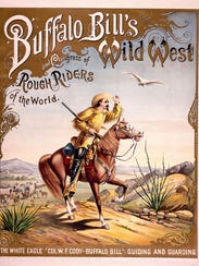 This 1893 poster for Buffalo Bill's Wild West is one