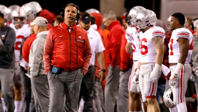 """Like everyone else, Ohio State coach Urban Meyer wonders if the offense that has sparked a five-game winning streak will be the one that shows up against Penn State: """"The receivers are doing an excellent job, but what have you done for me lately? We're going to find out against this team."""""""