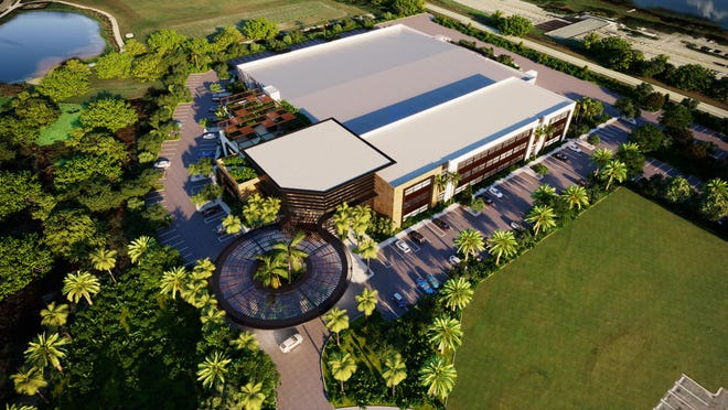 A rendering shows the planned layout of Beacon Pharmaceutical Jupiter's bioscience incubator off of Indiantown Road just west of the Florida Turnpike.