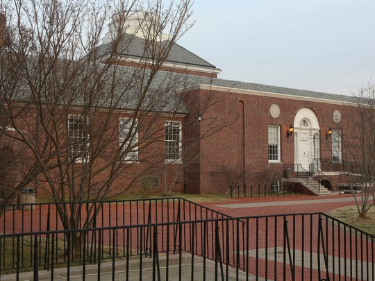 Memorial Hall on the campus of the University of Delaware in March.