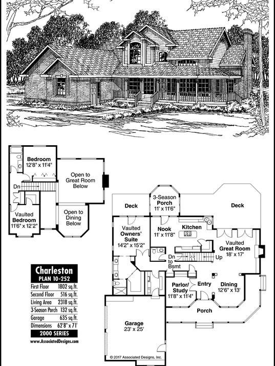 Charleston house plan for Charleston style home floor plans