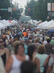 Large crowds show up during Chambersfest on Saturday,
