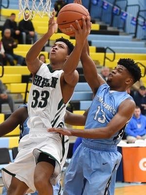 KVonn Cramer (33) will lead top-seeded Mount Pleasant into the DIAA Boys Basketball Tournament.