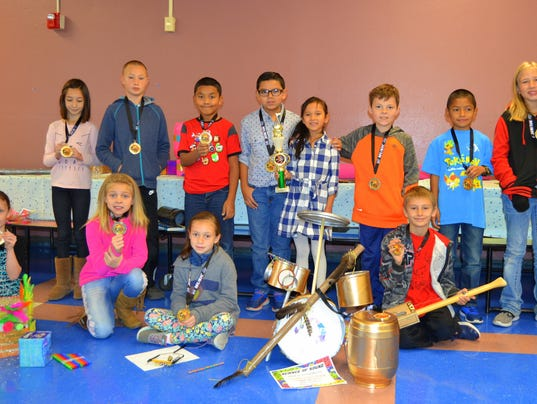 WME students with instrument