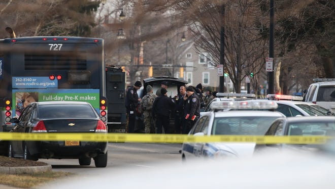 A 49-year-old man was fatally shot by Rochester police after a standoff of several hours. The man pointed a shotgun at SWAT officers; police had been negotiating with him.  Police had originally responded about 4:30 a.m. to a 911 call about a man menacing another with a shotgun.  When officers arrived two gunshots were fired in their direction.