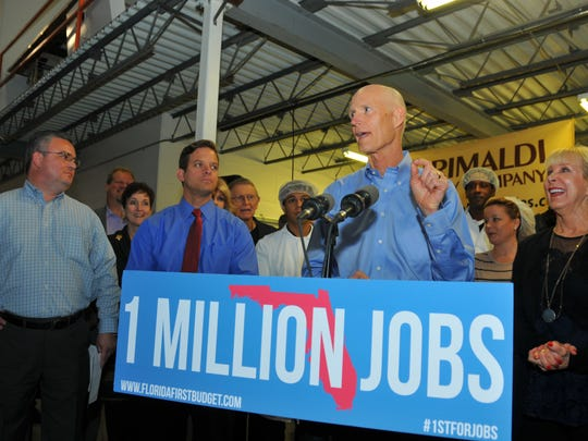 Governor Rick Scott, his wife Ann and Lt. Gov. Carlos Lopez-Cantera visited Grimaldi Candy Company in Rockledge Thursday afternoon as part of his million miles for a million jobs tour.
