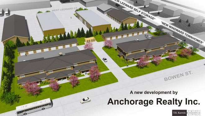 Anchorage Realty plans to turn a parcel of land scarred by arson into three-bedroom apartments and storage units.