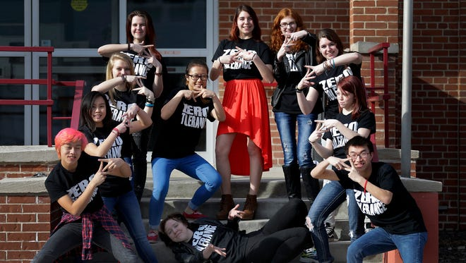 Zero Tolerance, all volunteer teen performance group sponsored by Harbor House.Monday, March 21, 2016 in Appleton, Wis. Wm. Glasheen/USA TODAY NETWORK-Wisconsin