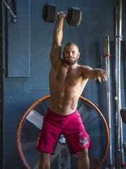 Mat Fraser won the 2016 Reebok CrossFit Games. He is seen at Champlain Valley CrossFit in Williston on Tuesday.