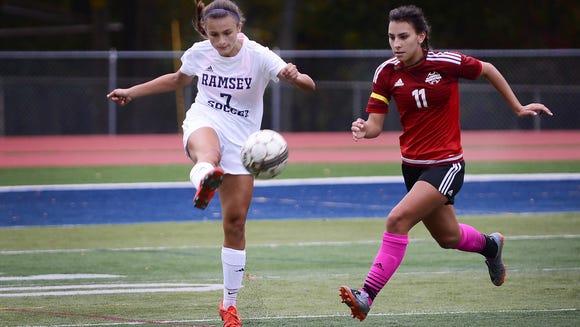 Marisa McEntee (7) and Ramsey shared the Big North