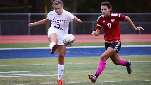 Marisa McEntee (7) and Ramsey shared the Big North Patriot Division title, while Sarah Kotwica (11) and Glen Rock won the NJIC Colonial crown outright.