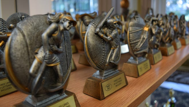 Awards4U on Lafayette Street sells a variety of trophies, mementos and awards.
