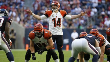 Cincinnati Bengals quarterback Andy Dalton and his offensive line have a language all their own on the line of scrimmage.