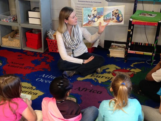 Alice Gnau in her classroom