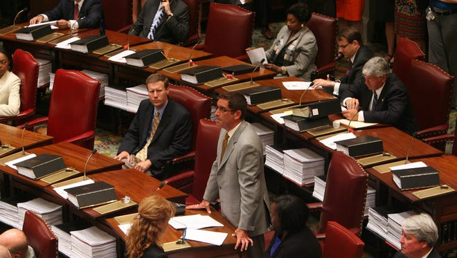 (file photo) Senate members meet during a session of the New York State Senate at the New York State Capitol in Albany.