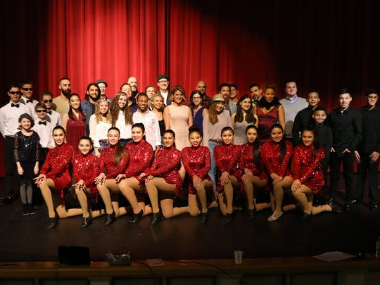 Media Day at Morristown High School for finalists of the 10th Anniversary show of Morristown Onstage to be held at the Mayo Performing Arts Center.  January 7, 2017, Morristown, NJ.