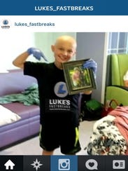 Luke Lange while undergoing chemotherapy treatments.