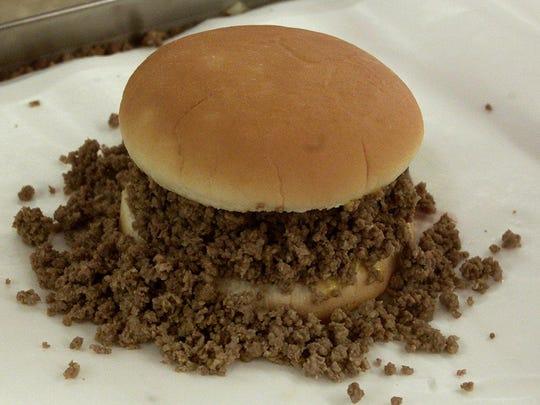 Loose-meat sandwich
