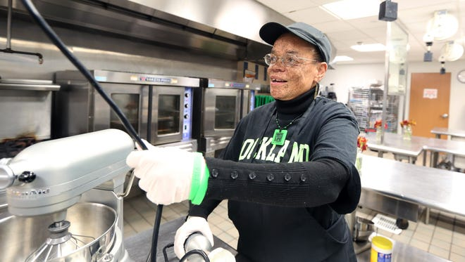 Roxanne Watson of Nanuet is a culinary arts student at Rockland Community College Nov. 28, 2016. She is a heart transplant recipient, and is active in getting people signed up as organ donors.