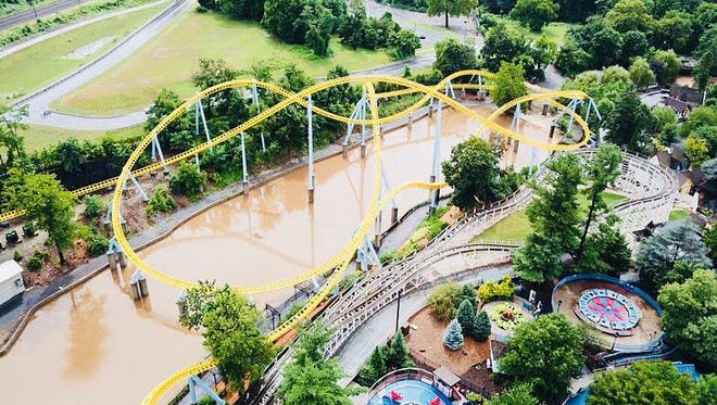 Hersheypark closed Monday due to flooding.