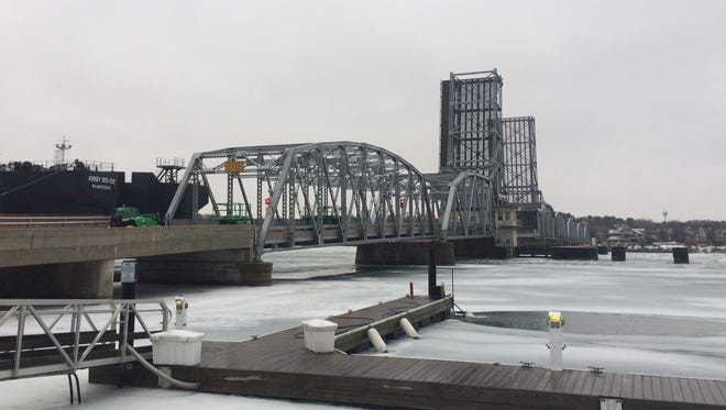 View of the Michigan Street Bridge while it is closed for repairs Wednesday, Jan. 28, 2016.