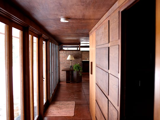The hallway from the bedrooms that lead to the main