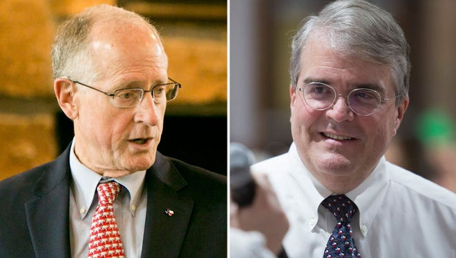 U.S. Reps. Mike Conaway of Midland, left, and John Culberson of Houston, right.