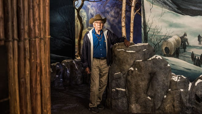 Jerry Wolf volunteered for the U.S. Navy after completing 10th grade. It was the first time he left the mountains. At 90, he is one of the tribe's most respected elders.