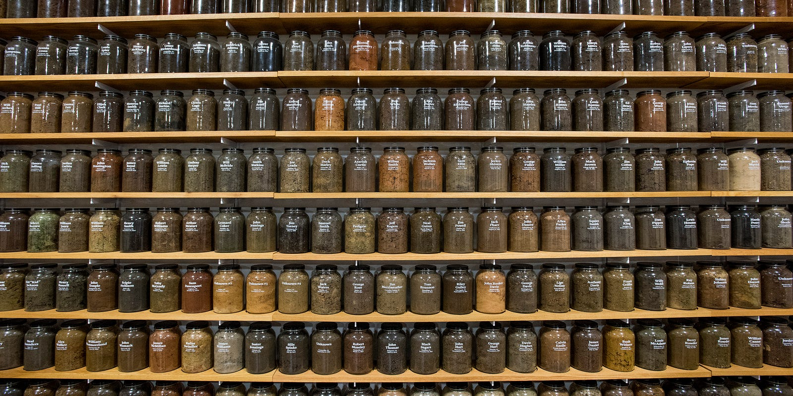 Image result for These are jars filled with soil from the sites of killings:
