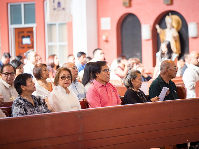 A Mass said in Tagalog was organized by the Filipino
