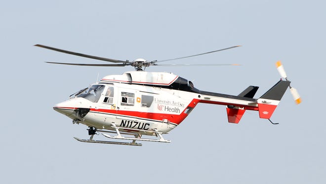 Three medical helicopters were called to a two-vehicle crash in Clermont County Tuesday evening.