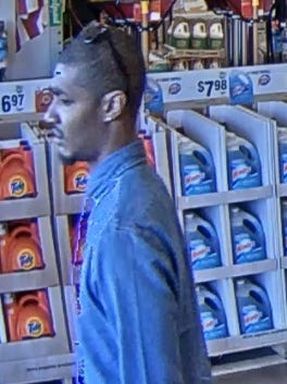 Surveillance footage of a man Surprise police say they are seeking in a string of credit-card frauds.