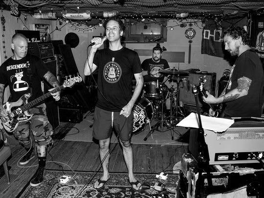 The Bouncing Souls, from left: Bryan Kienlen, Greg