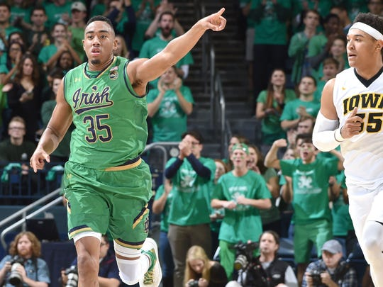 Notre Dame's Bonzie Colson has been the Irish's guiding force this season.