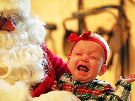 Quinn Klinker, 6 months old, of Ankeny, will eventually enjoy meeting Santa every December.
