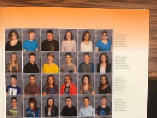 Marshall County High School yearbook photo of Gabe