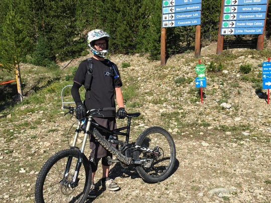 Jimmer Gillispie is a downhill mountain bike coach at Big Sky Resort. Big Sky added bike coaching this year in an effort to draw more people to the resort.