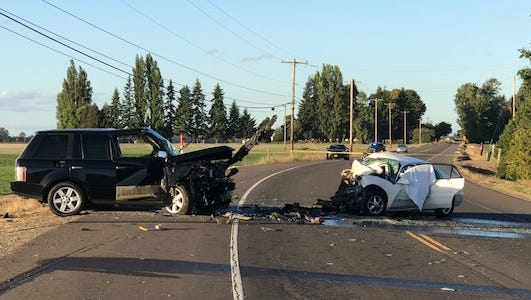 Fatal crash on Highway 99E and Nevada Street.