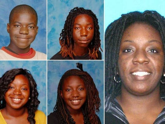 Port St. John shooting victims: On the very right is the mother, Tonya Thomas. Top, left to bottom right: Joel Johnson, Jaxs Johnson, Pebbles Johnson, Jazzlyn Johnson.