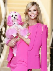 Stacey Whitmore says her pink-and-white Maltese-poodle