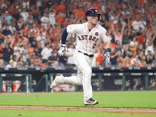 Houston Astros third baseman Alex Bregman (2) will