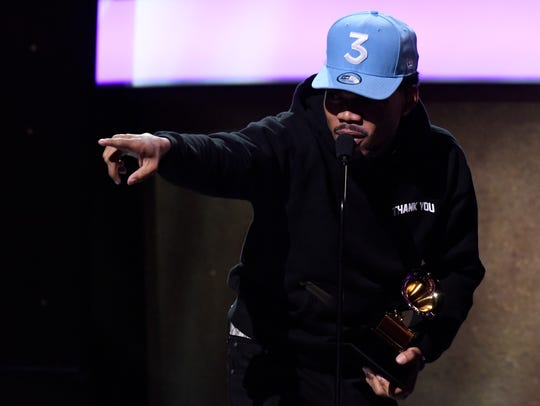 Chance The Rapper accepts best rap performance during
