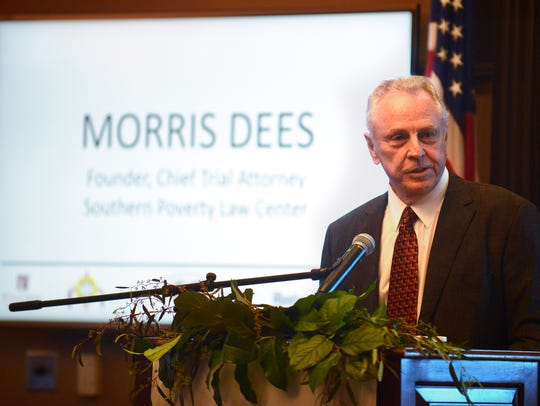 Morris Dees speaks during the Montgomery Advertiser