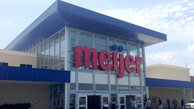 The Meijer store located at 1301 8 mile in Detroit, east of Woodward.