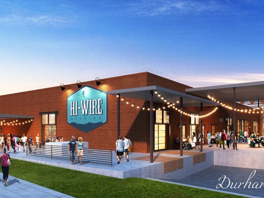 A mockup of Hi-Wire's Durham taproom.