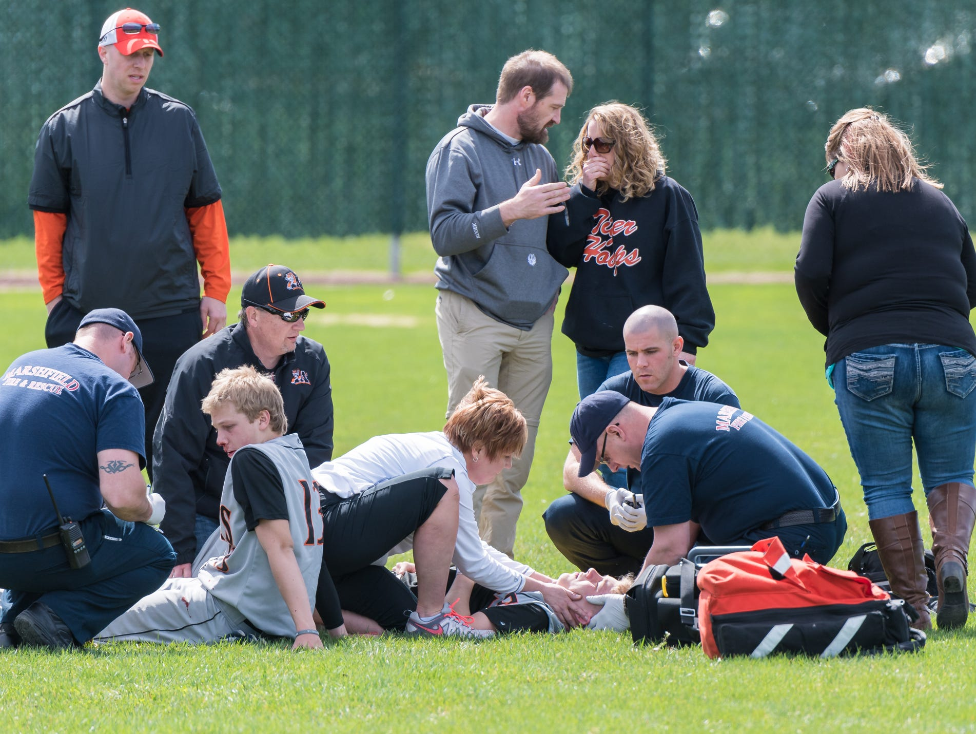 Marshfield baseball players heal from 'scary' collision ...