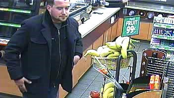 Police made arrest in an alleged larceny from a Port Huron gas station a few hours after releasing this surveillance photo.