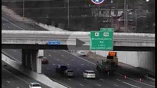A crash at the Murfreesboro Road exit causes delays on Dec. 23, 2016.