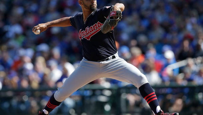 Danny Salazar pitched two crisp innings for the Indians.