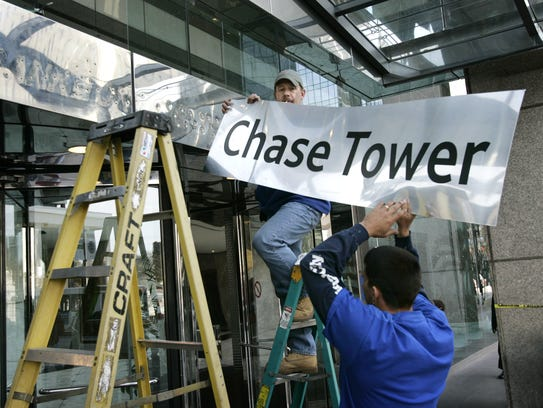 The Bank One building became Chase Tower in 2005.